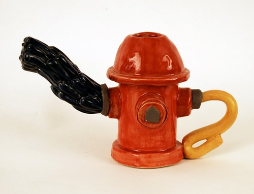 Fire Hydrant Teapot